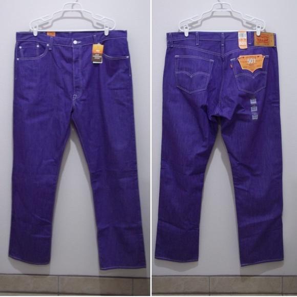 fb531f4f Levi's Jeans | Levis 501 Purple Denim Button Fly Raw 1916 | Poshmark